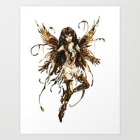 fairy Art Prints featuring fairy by Vector Art