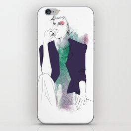 violet/green iPhone Skin