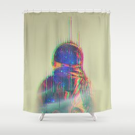 The Space Beyond - Astronaut Shower Curtain