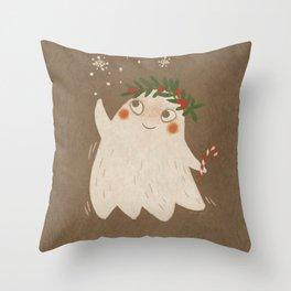 Christmas Ghost Throw Pillow