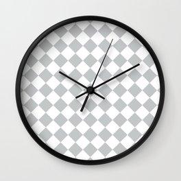 Light Grey Diamond Pattern Wall Clock