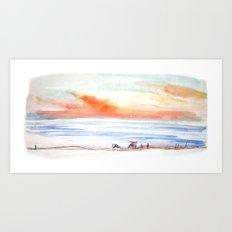 Sunset Sky by the Sea Art Print