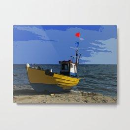Fishermans boat Metal Print