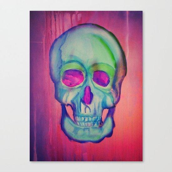 Watercolor skull/Blue Canvas Print