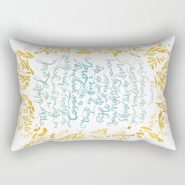 Take Delight in the Lord- Psalm 37:4-6 Rectangular Pillow
