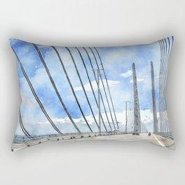 Öresund bridge Rectangular Pillow