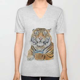 Too Early Tiger Unisex V-Neck