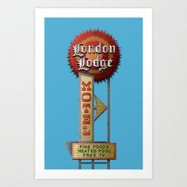 London Lodge Motel Sign Art Print