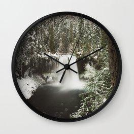 Winter Wanderlust Waterfall Wall Clock