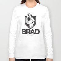 brad pitt Long Sleeve T-shirts featuring BRAD by BradLee