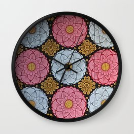 Lotus Flowers Wall Clock