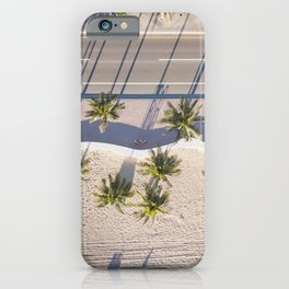Fort Lauderdale beach from aerial point of view iPhone Case