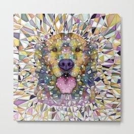rainbow dog Metal Print