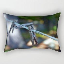 Weathered Clothespins Rectangular Pillow