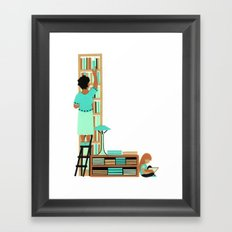 L as Libraire (Bookseller) Framed Art Print