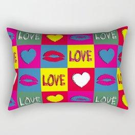 Pop art love Rectangular Pillow