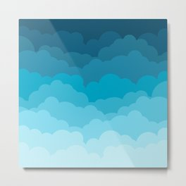 Gradient Clouds Metal Print