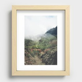 Mountain forest. Recessed Framed Print