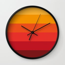Color Pattern ( Red) Wall Clock