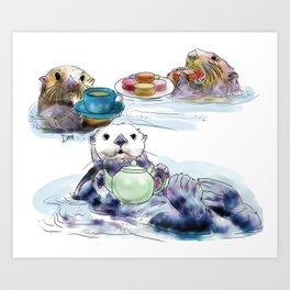 The Otter's Tea Art Print