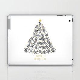 Snowflakes Tree (black gold) Laptop & iPad Skin