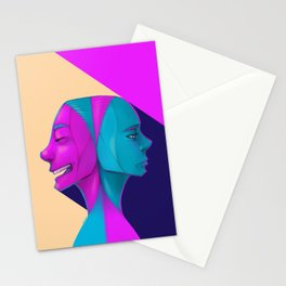 Duel of Face Stationery Cards