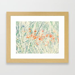 Red dreamy berrys Framed Art Print