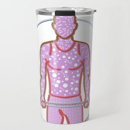 Personal Trainer Lifting Barbell Memphis Style Travel Mug