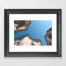 Sky circles Framed Art Print