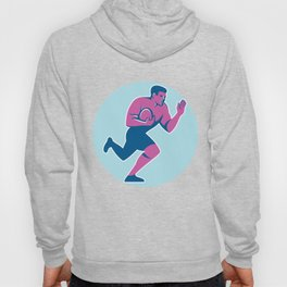 Rugby Player Fend Off Circle Retro Hoody