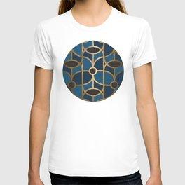 Art Deco Blue Dreams T-shirt