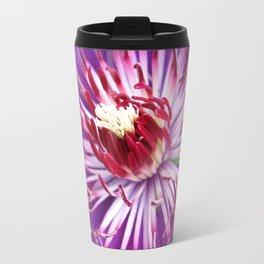 Purple Splash (Clematis) Travel Mug