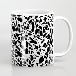 Terrazzo Spot 2 Black on White Coffee Mug