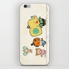 Walking with you iPhone & iPod Skin