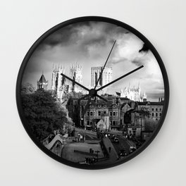 York Minster and walls in the sun Wall Clock