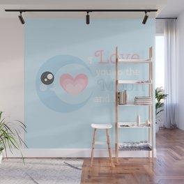 Moon Heart Wall Mural