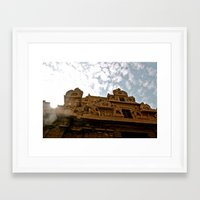hindu Framed Art Prints featuring Hindu Temple by briannagarriott