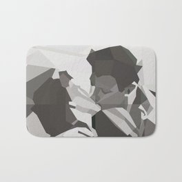 Geometric Kiss Bath Mat