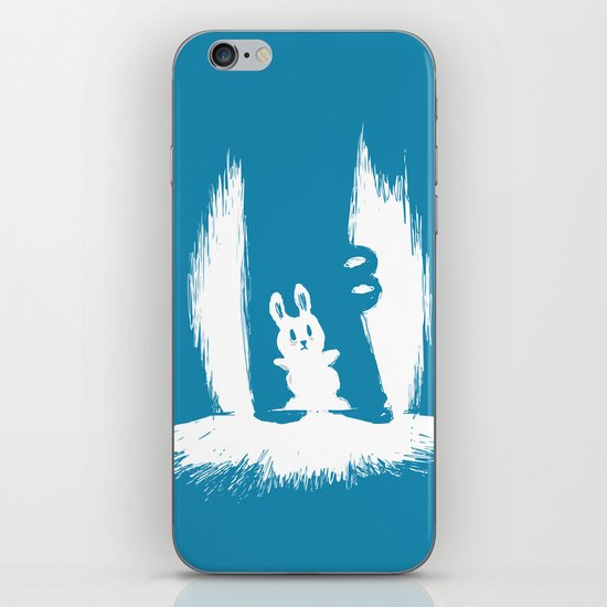 cornered! (bunny and crocodile) iPhone Skin