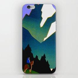 See America Montana - Retro Travel Poster iPhone Skin