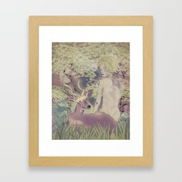 Diana, my deer Framed Art Print