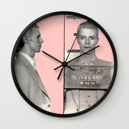 PINKY BOWIE ARRESTED Wall Clock