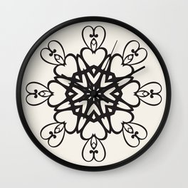 Dependence of hearts Wall Clock