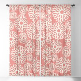 Flower Power in Red Sheer Curtain