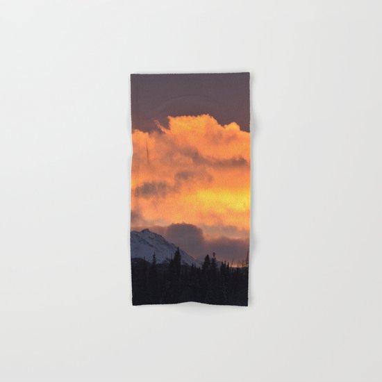 Sunrise Behind Chugach Mts ~ II Hand & Bath Towel