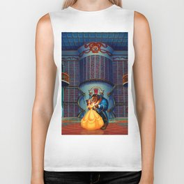 Beauty And The Beast Biker Tank