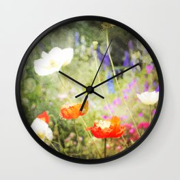 Magic Poppies Wall Clock