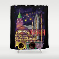 istanbul Shower Curtains featuring Istanbul  by Aleksandra Jevtovic