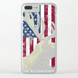 Hunting Themed Deer Whisperer Tee, Awesome Retro Distressed Clear iPhone Case