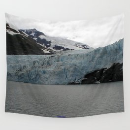 TEXTURES -- A Face of Portage Glacier Wall Tapestry